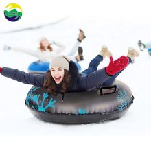 Funny! Winter PVC Wholesale Inflatable Plastic winter products sled toys custom towable sledding equipment Sledge Snow Tube Sled