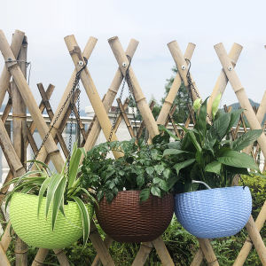 hook hanging pots in walls plastic garbige hanging metal hanging planter with plastic pot