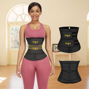 Women Black Slimming Belt Sport Latex Weight Lifting Plus Size Waist Trainer Shaper