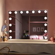 Table vanity hollywood led lighted dressing room mirror 15pcs bulbs