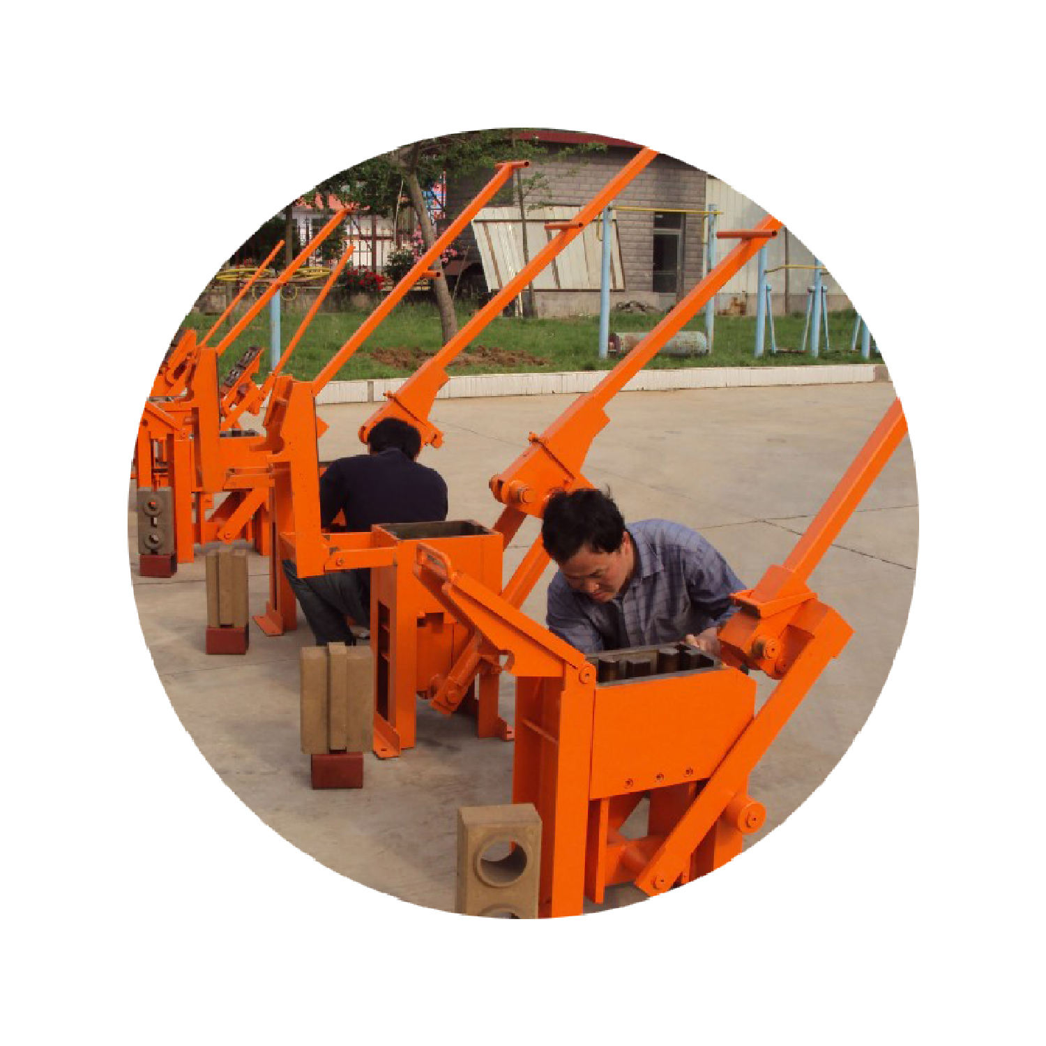 Low Cost Hand Press Mud Brick Making Machine