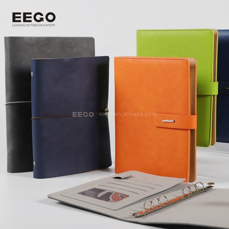 promotion a5 pu leather soft cover ring binder notebook diary,agender organizer planner notebook