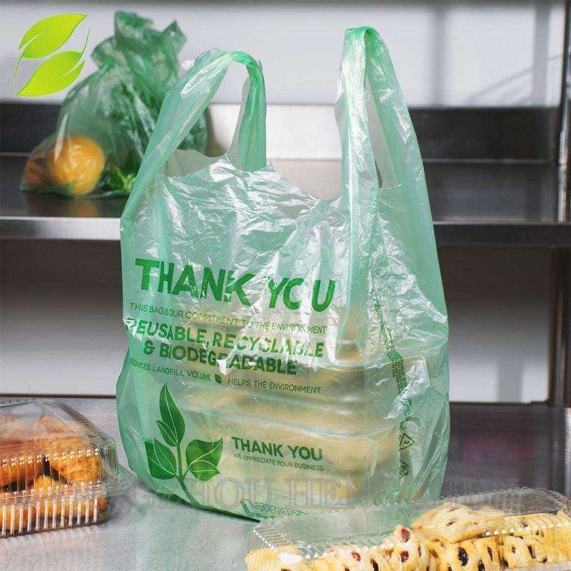 Corn Starch Material and Corn Starch Raw Material Compostable vest Bags Manufacturers