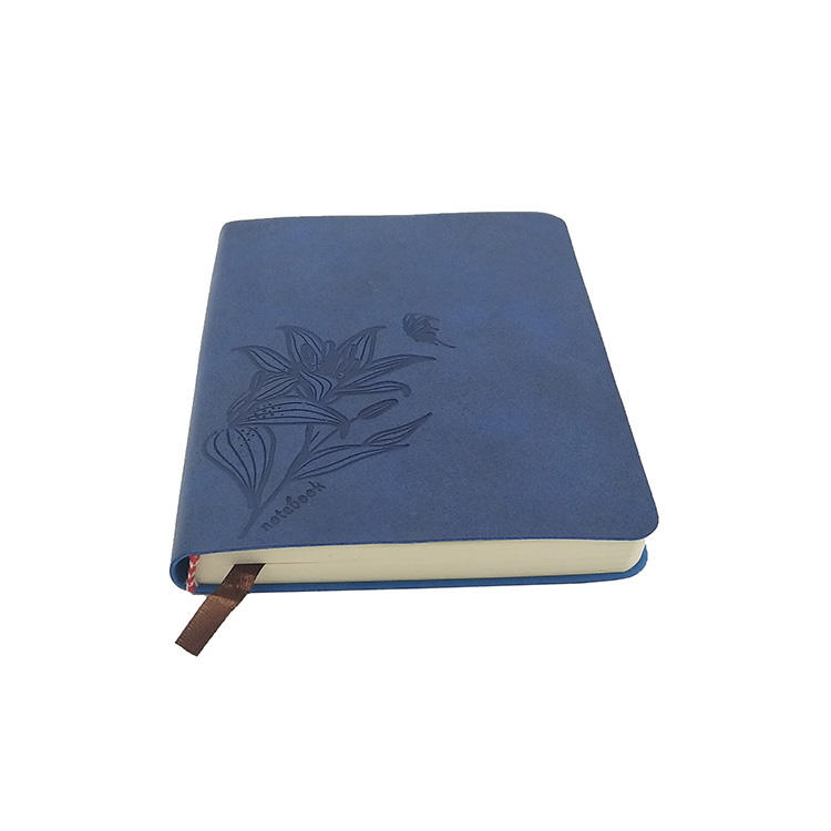 Soft cover faux leather universal notebook small writing journals with embossed logo