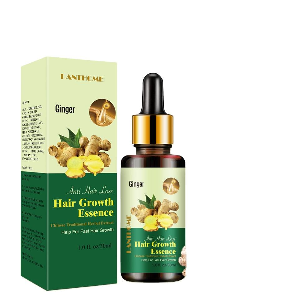 LANTHOME Hair growth essence Help For Fast Hair Growth Chinese Traditional Herbal Extract Ginger extract Prevent Hair Loss