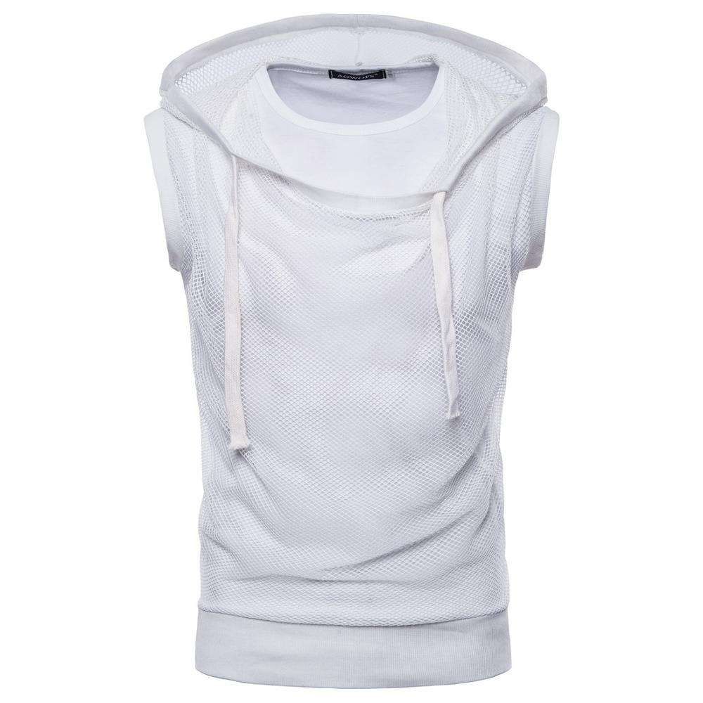 Hot Sell 2019 Hoodies Men's Sleeveless Fashion Round Neck Casual T-shirt For summer