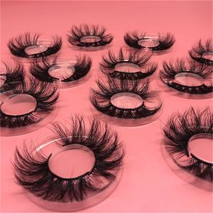 Wholesale Natural Fluffy Wispy Faux Mink Eyelashes Other Handmade Soft Private Label 100% 5D False 25Mm 3D Mink Eyelash