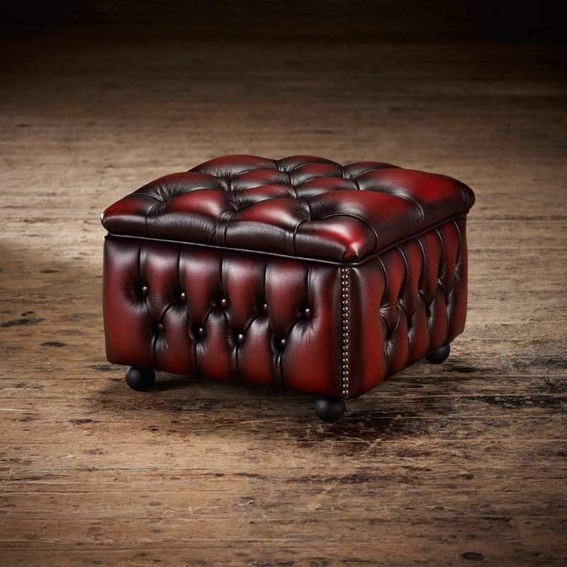 Wholesale Genuine Leather Square Ottoman Leather,Footstool Ottoman,Puff Ottoman