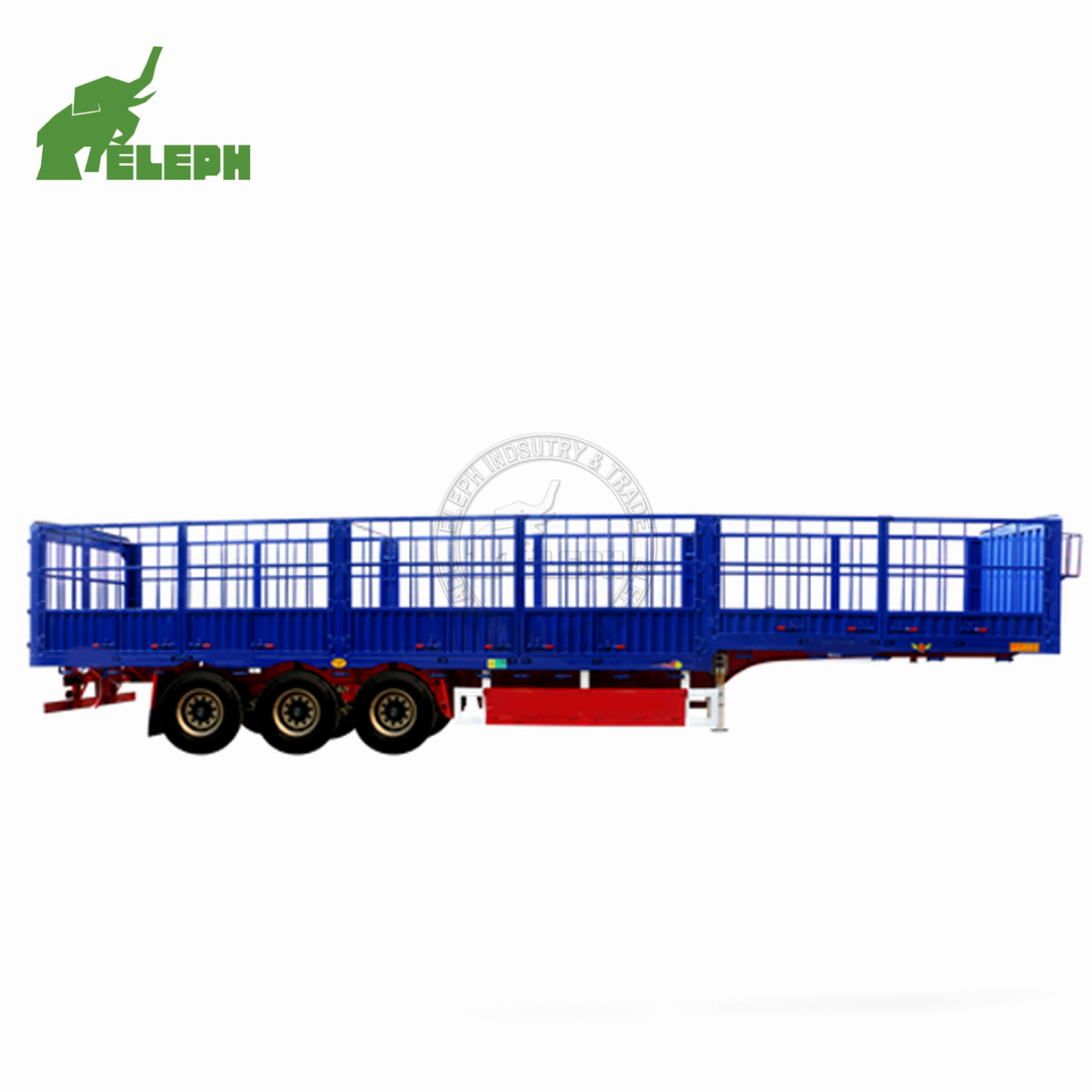 3 4 Axles 40 Feet 40ton Panel Doors Stake Dropside Fence Cargo Sheep Semi Trailer