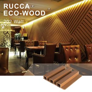 Rucca Wood Plastic Composite Pvc Wall Paneling Interior, Lowes Cheap Wall Paneling Decoration Design 202*30mm Cladding