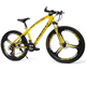 2020 NEW design 3 Spokes Cross-country type road bike 21S 27S double disc brake Mountain bicycle, Yellow Mountain bike