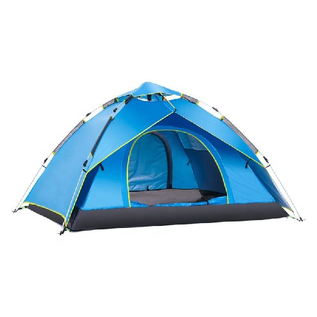 Family Camping Tent Outdoor Waterproof Travel double Layer Nature Hiking for 3-4 Person