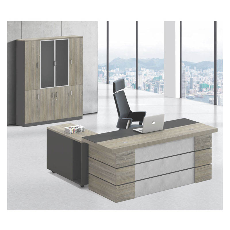 Manufacturer of custom Luxury wooden office furniture side table L shape executive modern office desk