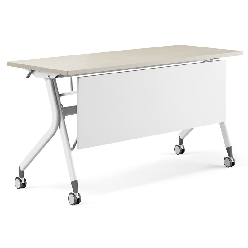 Greatway widely used in training room metal folding training desk study table with wheels