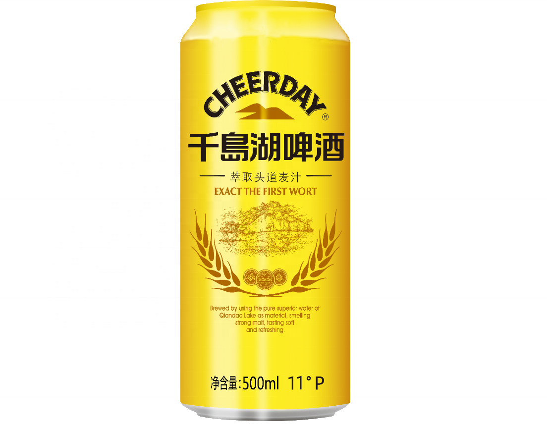 Cheerday D'or 4.3% vol 500ml 1*12 En Conserve de Bière Lager