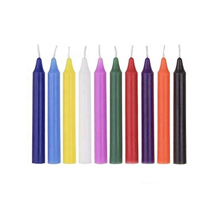 Megical Candles-Unscented 4inch mini religious church Chime Chanukah Spell Candle For Jewish