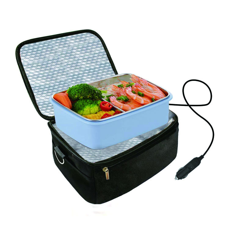 Factory Customization Food Warmer 12V Lunch Bag Portable Car Heat Lunch Box Electric Food Thermal Cooler Bag for Work Picnic