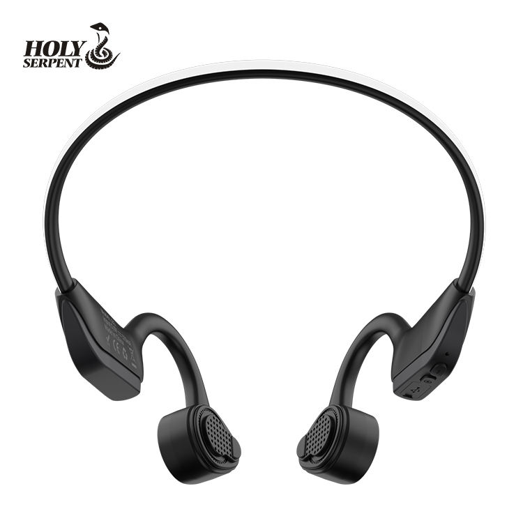 China wholesale fluorescent bar bone conduction earphone waterproof and dustproof 5.0 bluetooth neckband earbuds