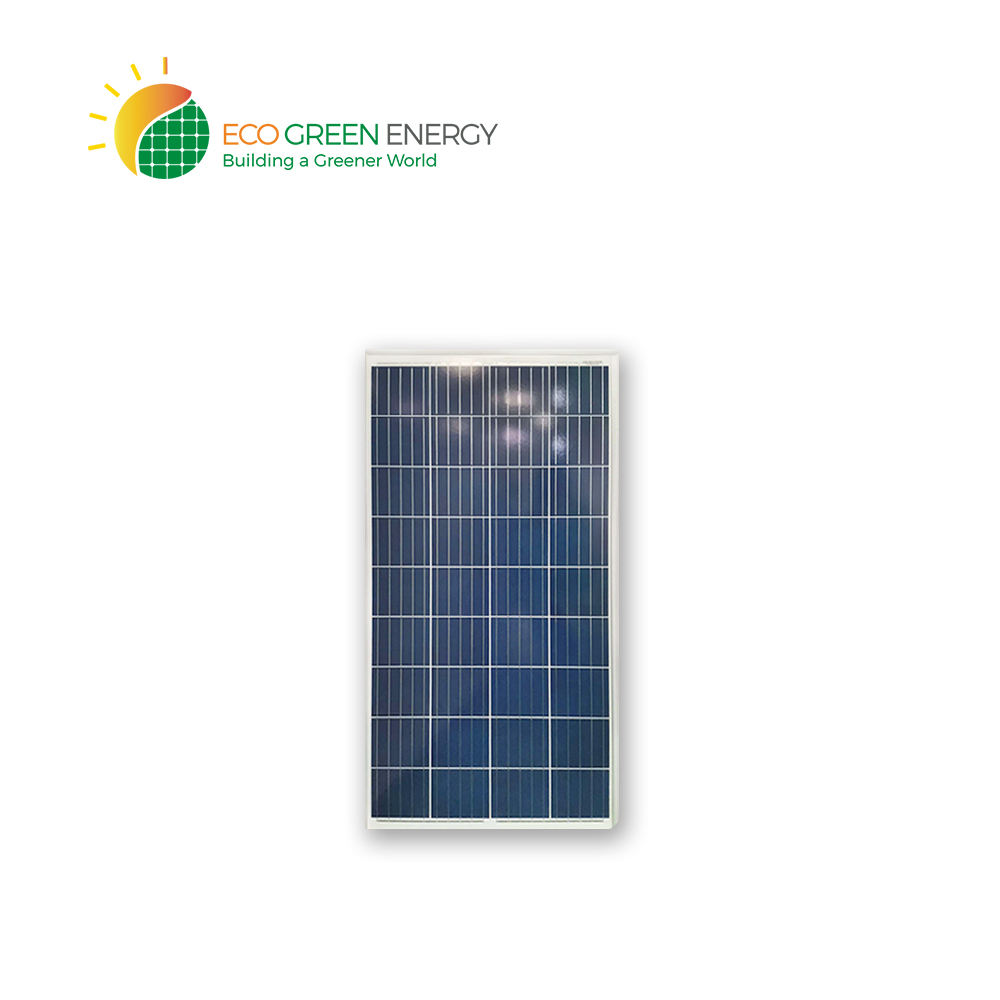 Eco Green Energy 130W Polycrystalline Solar Panel Small PV Module Polycrystalline 36 Cells Commercial 9 KG 1000 1260 x 670 x 30