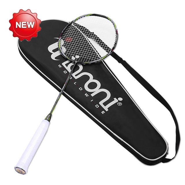 Carbon Fiber Badminton Racket Customize,professional flex 30lbs senar baton raket badminton racket