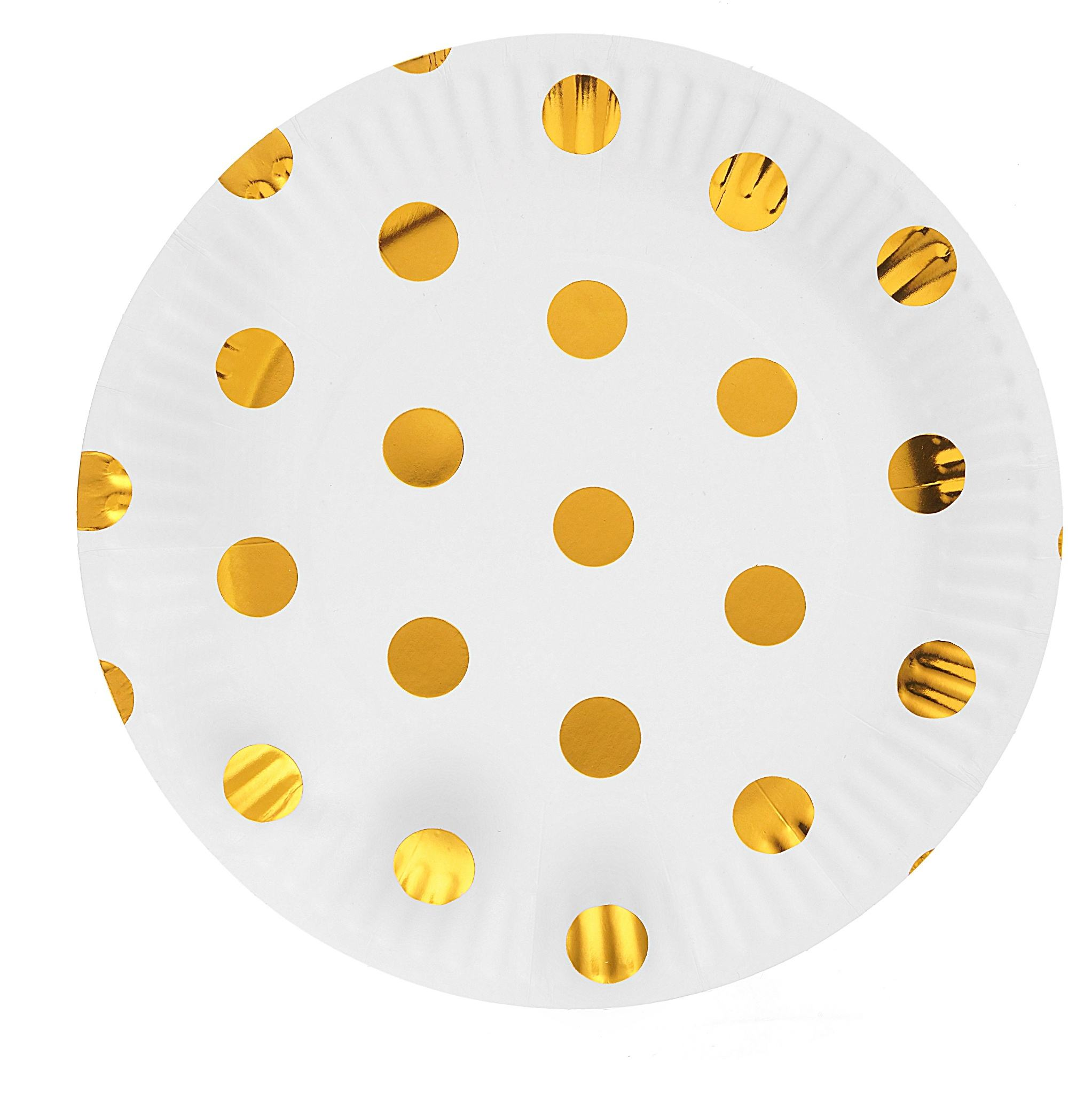Popular thickened round polka dot party tea party paper plates party cups and plates paper fox paper plates and napkins for par