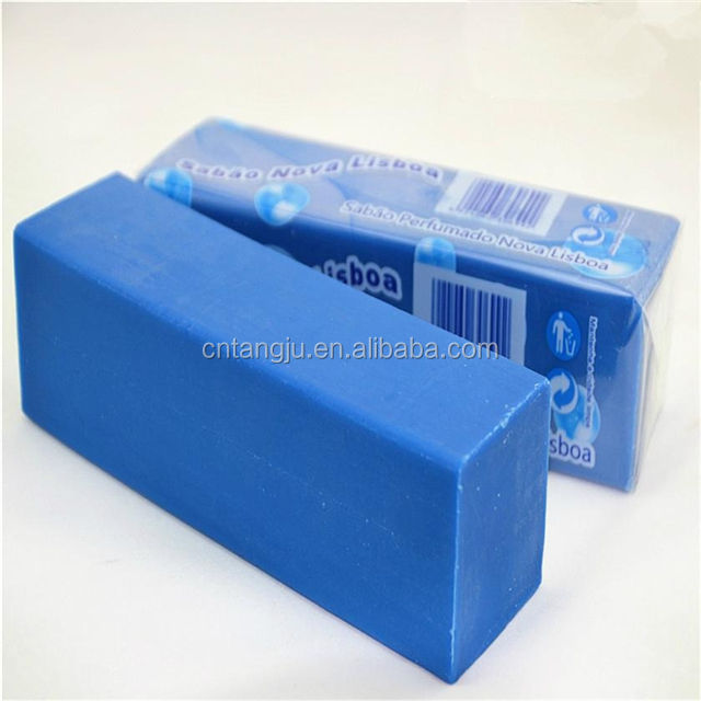 China low price 1KG blue laundry soap bar green soap for washing clothes