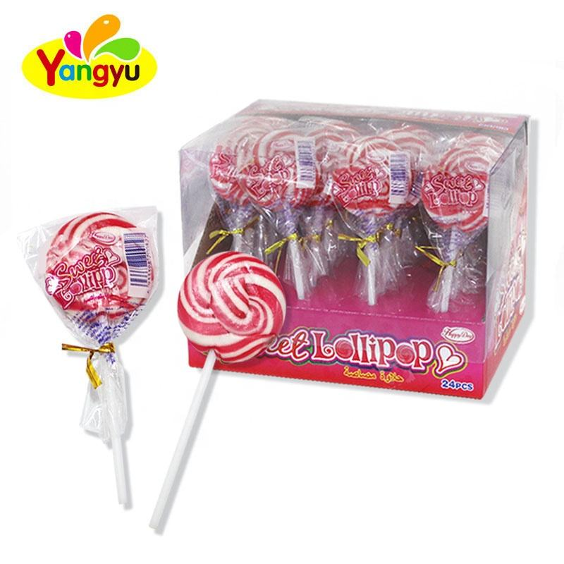 Halal Sweets Halal Lollipop Cartoon Round Swirl Sweet Lollipop