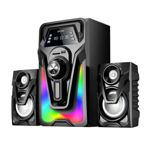 Keras Speaker Home Theater Model Baru, Digunakan Home Theater Sistem Musik CE RoHS Speaker 2.1 Channel Speaker Sistem Home Theater