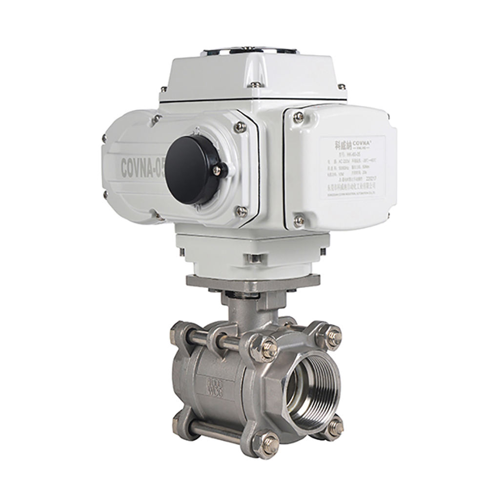 12V 24V 220V 3 PCS Stainless Steel On Off Type Electric Actuator Motorized Water Flow Control Ball Valve