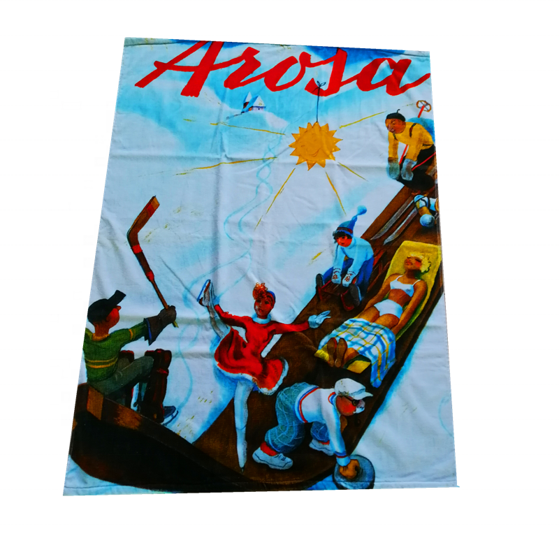Full Color Custom Reactive Printing 100% Cotton Beach Towel