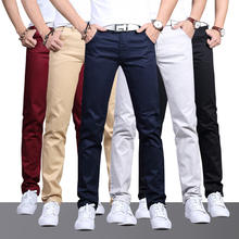 2020 Spring New Mens Fashionable Work Pants Breathable Casual Slim Pants