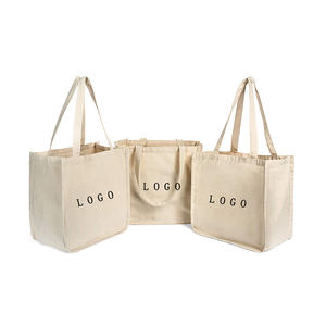 Wholesale promotional eco reusable folding customize cotton canvas tote bag