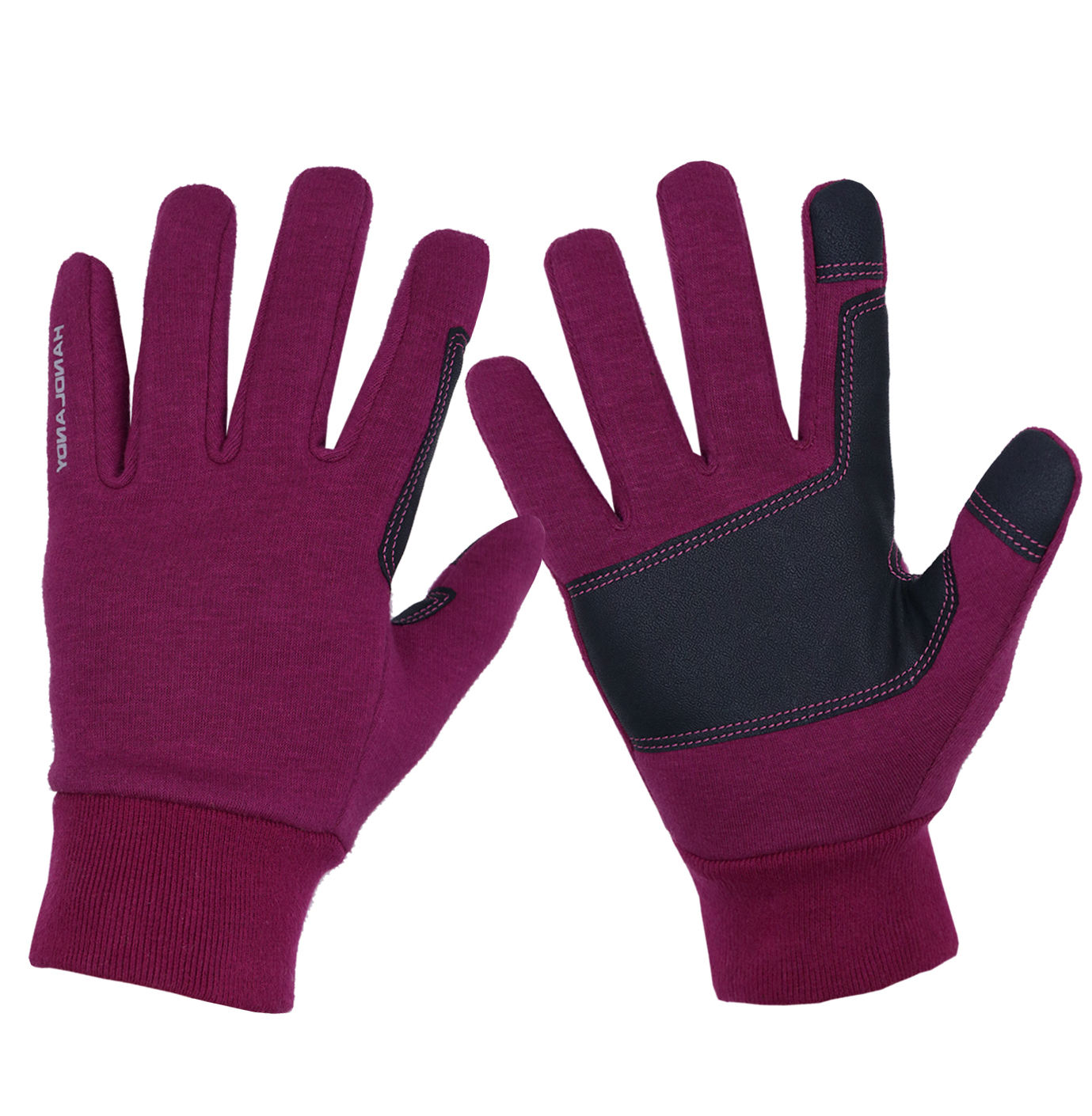 HANDLANDY Purple Ladies Warm Riding Other Sports Cycling Outdoor Custom Touch Screen Winter Running Gloves For Women