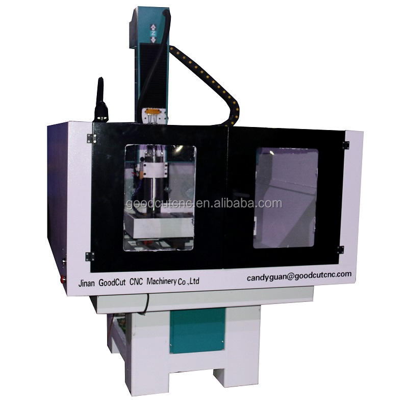 Semi-closed heavy duty 4040 6060 6090 mini router cnc metal mould making machinery for cutting engraving aluminum model