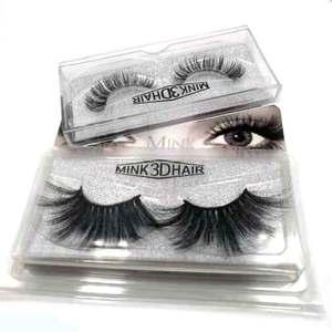 Wholesale Vendor Make Own Brand Private Label Handmade Faux Mink Eyelash Silk Fake Lashes 3D Eyelashes