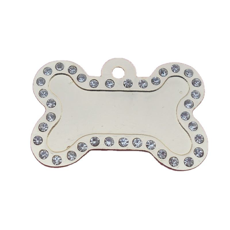 2013 newly!!!!!!! gold and silver color blank rhinestone dog tags