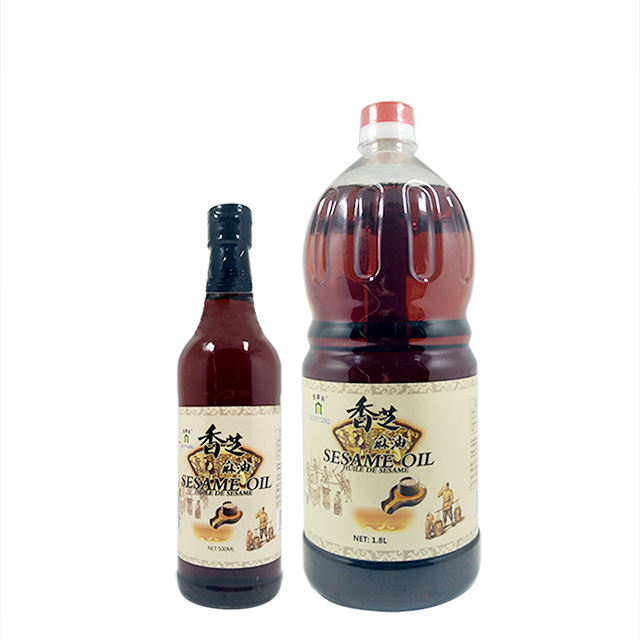 1.8L Export Hot Sale Halal No Additives Cold Pressed 100% Pure Sesame Seed Oil