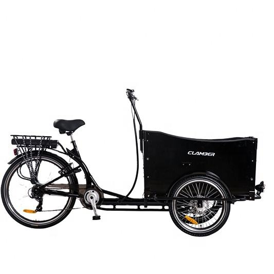 Adult Electric Cargo bike used for family with 250W*36V 3 wheel bike trike with damper tricycle/kids bike bicycle 24""