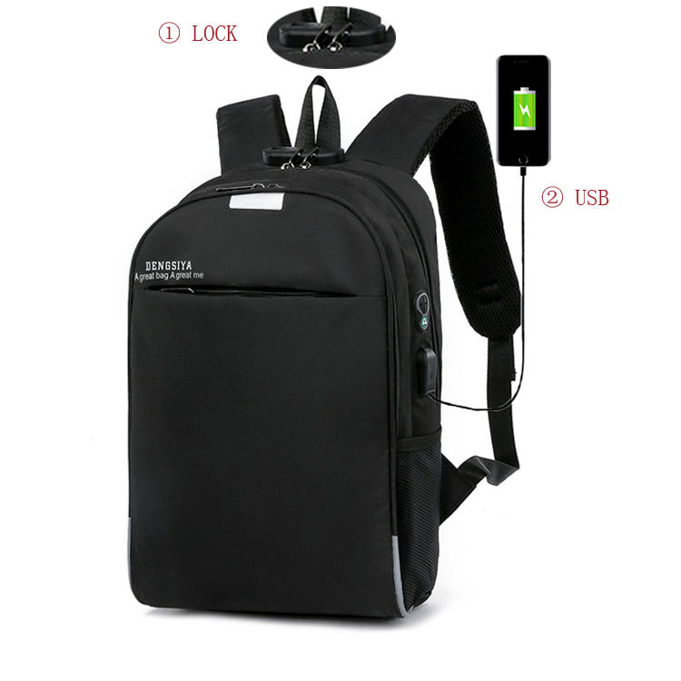business travel school waterproof smart backpack bag men's USB battery charging anti-theft laptop backpack with usb port