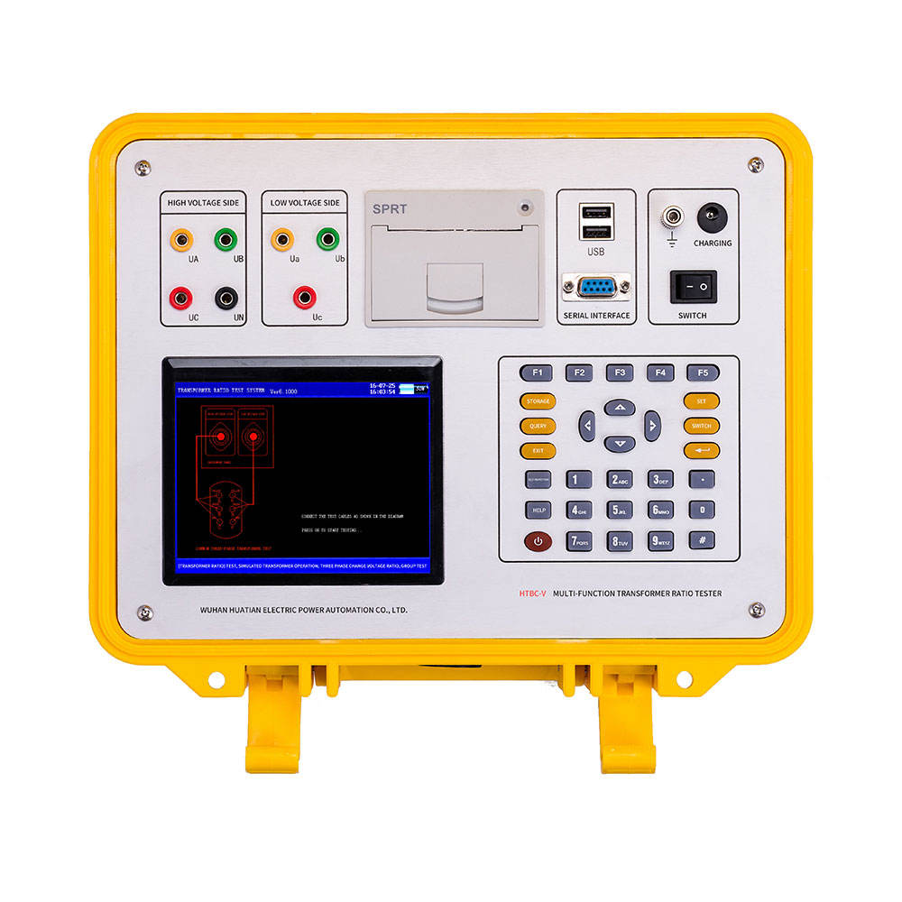 HTBC-V Multifunctionele Draagbare Automatische Transformator Turns Ratio Tester TTR Meter