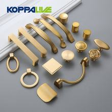 Furniture hardware copper kitchen cabinet handle knob