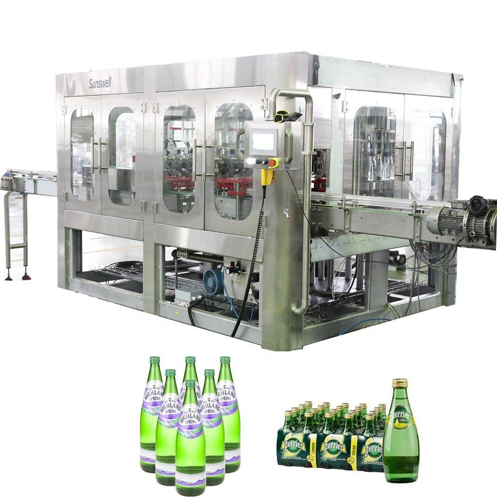 Turnkey Project Sparkling Water Filling Production Line Can Glass Juice Beverage Bottling Mixing Plant Machine