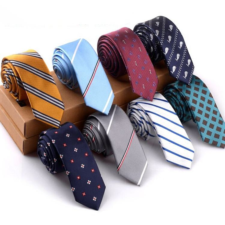 Fashion Design Striped Dot Men's 100 Polyester Korean Necktie Wholesale