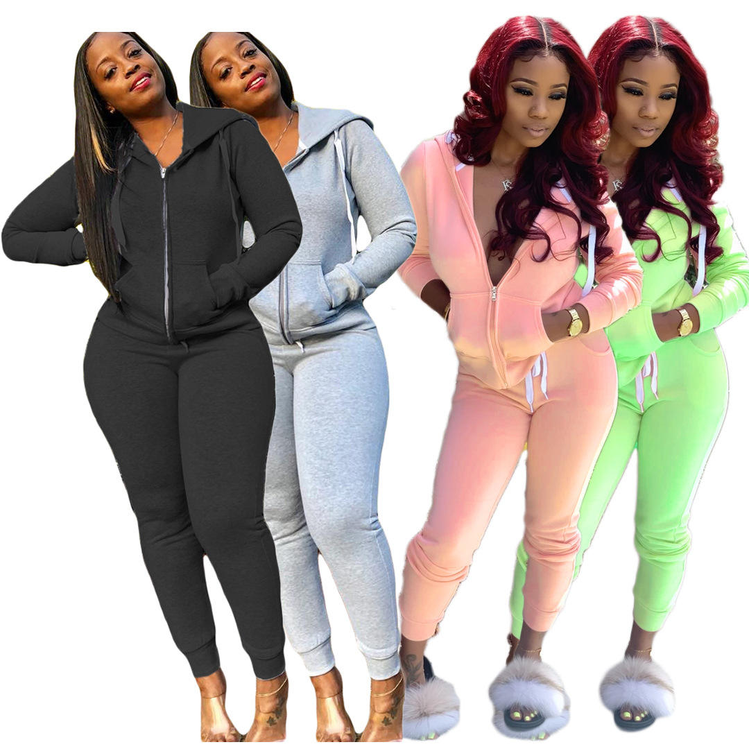 Two Piece Set Women Tracksuit Festival Clothing Fall Winter Top + Pant Sweat Suit 2 Pieces Outfits Hoodies Sweatshirt Y12327