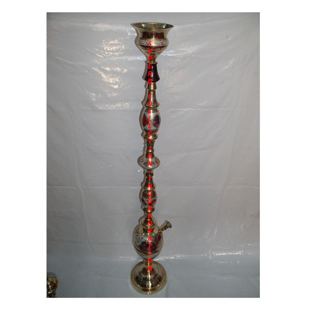 Luxury Wooden Brass Hookah For Lounge Or Wedding OR Hotel