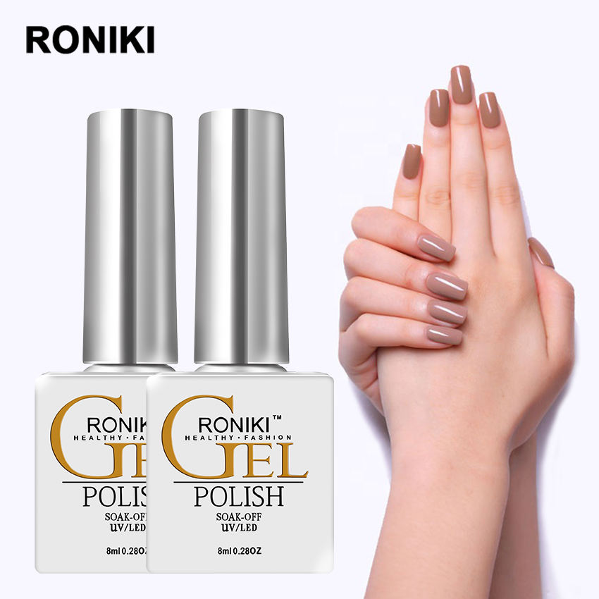 RONIKI Global Fashion Organic Free Samples Long Lasting Uv Gel Wholesale Soak Off Color Nail Gel Polish
