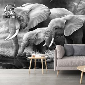 2019 HD animal mural 3D wallpaper for wall