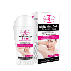 50g Whitening Deodorant Stick Underarm Private Parts Care Balm with Collagen Milk For Women Sensitive Area