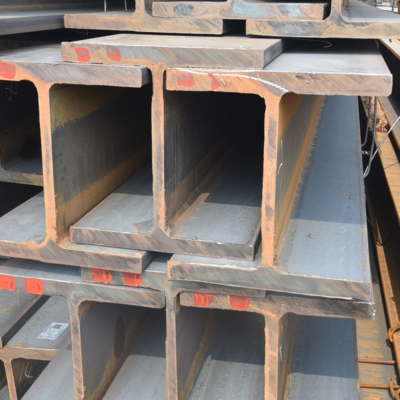 China Supplier Steel Structure Hot Rolled H Beam Sizes and Universal Beam Cutting and Drilling Holes