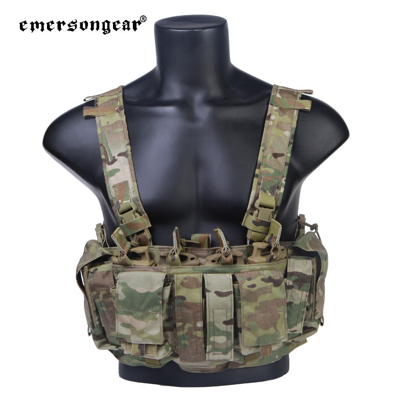 Emersongear Tactical Hunting Chest Rig Harness Split Front Carrier Military Army Gear With Magazine Pouch Chest vest EM7329